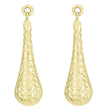 9ct Yellow Gold Diamond Cut Drop Earring - Product number 6382800