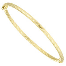 9ct Yellow Gold Patterned Bangle - Product number 6383203