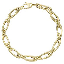 9ct Yellow Gold Long Link Bracelet - Product number 6383270