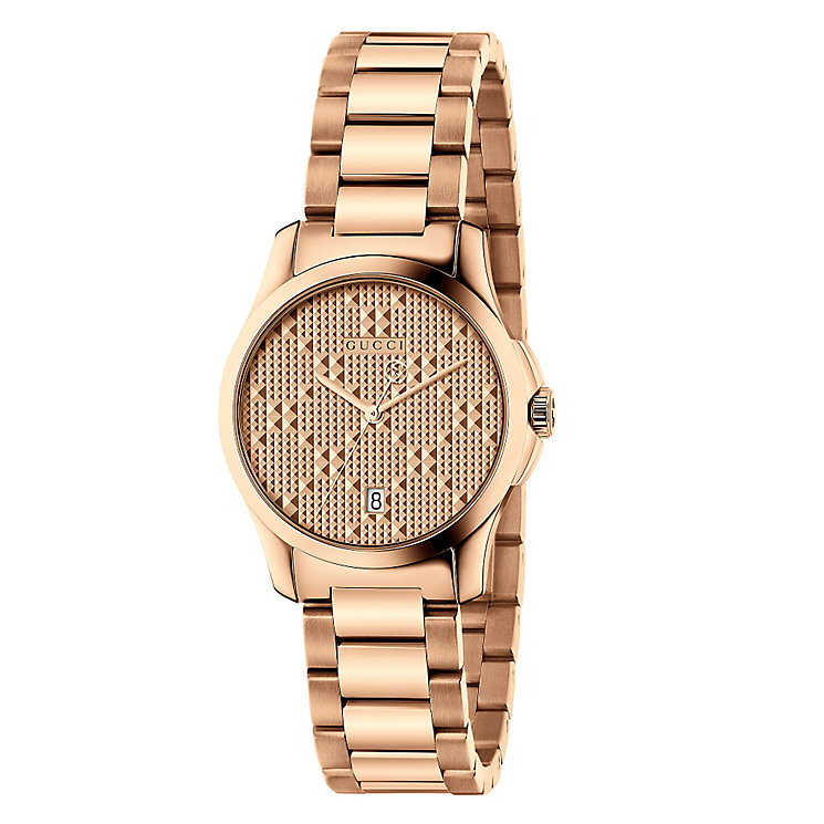 Gucci Ladies' Rose Gold Plated Bracelet Watch - Product number 6383386