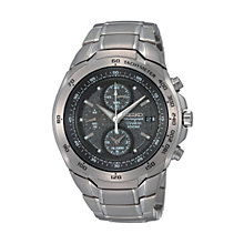 Seiko men's grey dial chronograph bracelet watch - Product number 6383645