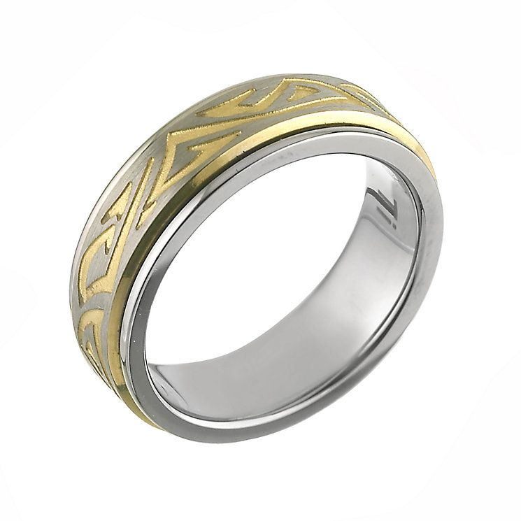 Titanium Yellow Patterned Ring - Product number 6384498