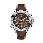 Nautica Yachting men's  brown leather strap watch - Product number 6385214