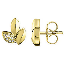 Thomas Sabo Glam & Soul Yellow Gold Leaf Stud Earrings - Product number 6391257