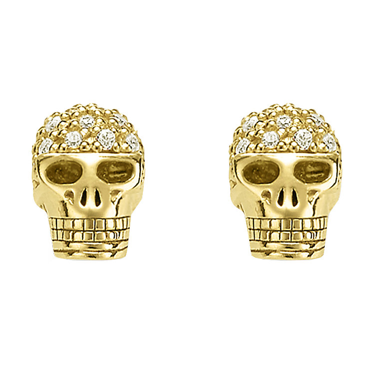 Thomas Sabo Rebel at heart Yellow Gold Skull Stud Earrings - Product number 6391311