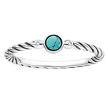 Thomas Sabo Diamond Turquoise Twist Ring Size O - Product number 6391486