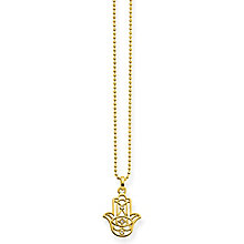 Thomas Sabo Yellow Gold Diamond Fatima Hand Necklace - Product number 6391532