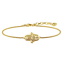 Thomas Sabo Diamond Yellow Gold Fatima Hand Bracelet - Product number 6391656