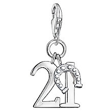 "Thomas Sabo Charm Club Lucky ""21"" Charm - Product number 6393659"