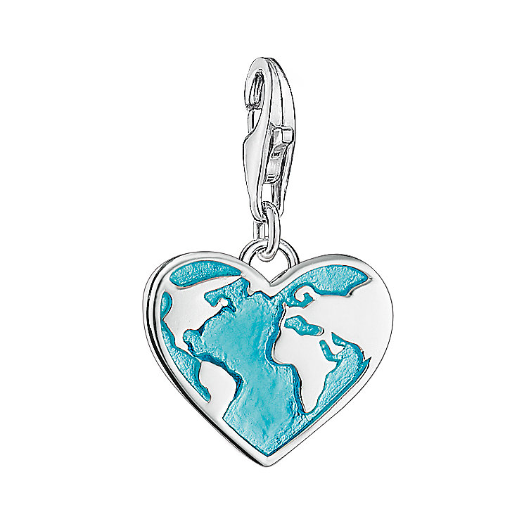 Thomas Sabo Charm Club Heart Shaped Globe Charm - Product number 6395422