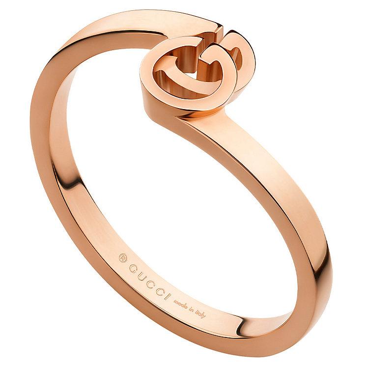 gucci running g 18ct gold ring size m ernest jones