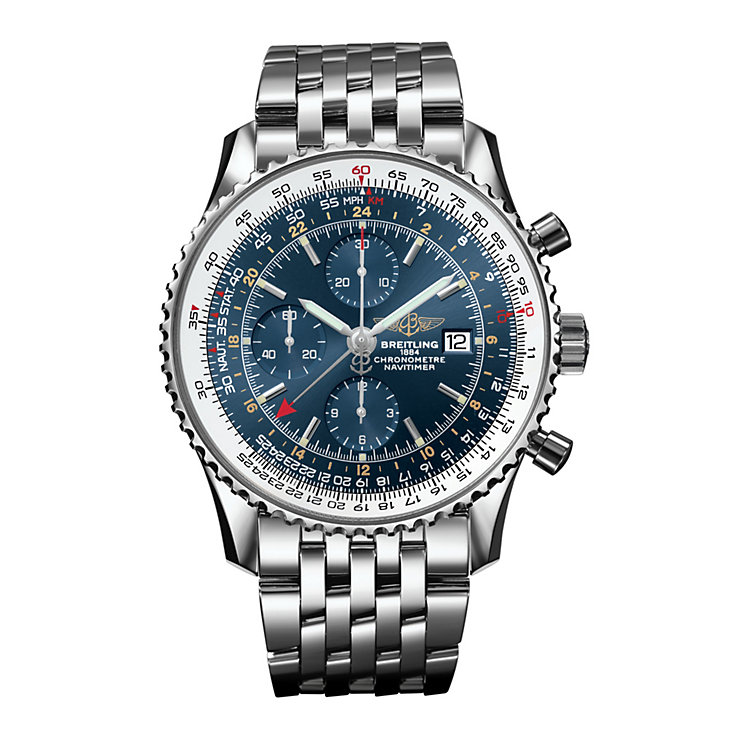 Breitling Navitimer World men's steel bracelet watch