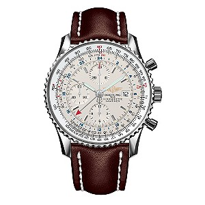 breitling navitimer world men s leather strap watch ernest jones
