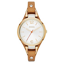 Fossil Ladies' Georgia Tan Leather Strap Watch - Product number 6406882