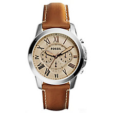 Fossil Men's Grant Chronograph Brown Leather Watch - Product number 6407099