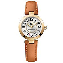 Juicy Couture Tan Leather Strap Watch - Product number 6409628