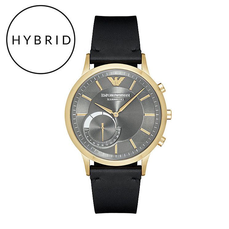 Emporio Armani Connected Men's Gold Tone Hybrid Smartwatch - Product number 6409903