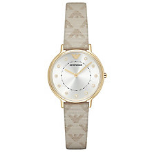 Emporio Armani Ladies' Gold Tone Strap Watch - Product number 6409954