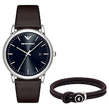 Emporio Armani Men's Strap Watch & Bracelet Set - Product number 6410030