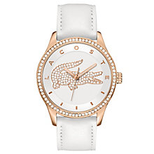 Lacoste Ladies' White Leather Strap Watch - Product number 6411991