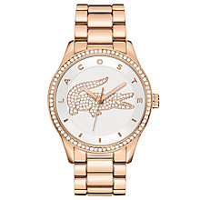 Lacoste Ladies' Rose Gold Plated Stainless Steel Watch - Product number 6412009