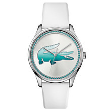 Lacoste Ladies' Blue Crystal Blue Silicon Strap Watch - Product number 6412068
