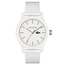 Lacoste Men's White Silicon Strap Watch - Product number 6412327