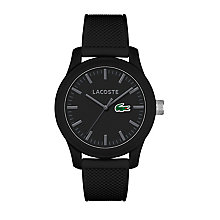 Lacoste Men's Black Silicon Strap Watch - Product number 6412343