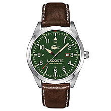 Lacoste Men's Brown Leather Strap Watch - Product number 6412351