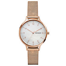 Skagen Anita Ladies' Rose Gold Tone Bracelet Watch - Product number 6412653