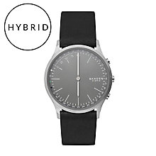 Skagen Connected Men's Hybrid Smart Black Leather Watch - Product number 6412742