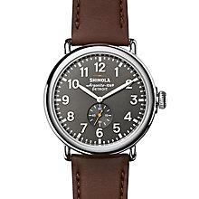 Shinola Runwell 47 Men's Grey Stainless Steel Strap Watch - Product number 6413390