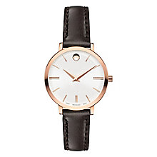 Movado Ultra Slim Ladies' Rose Gold-Plated Strap Watch - Product number 6414133