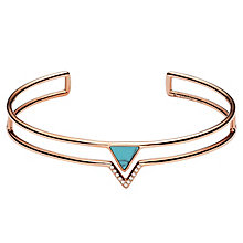 Fossil Rose Gold Tone Triangle Bangle - Product number 6415040