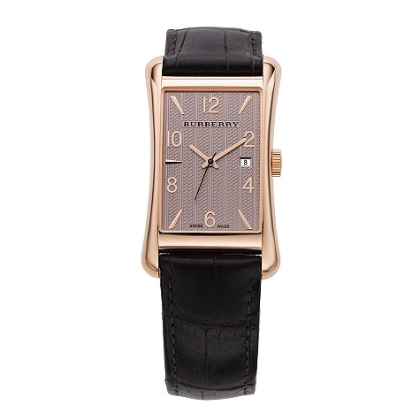 mens rose gold case watch