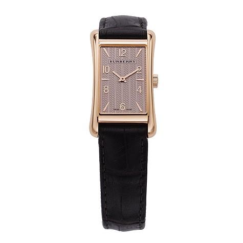 ladies rose gold case watch