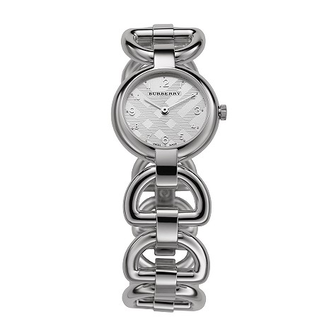 ladies stainless steel bangle watch