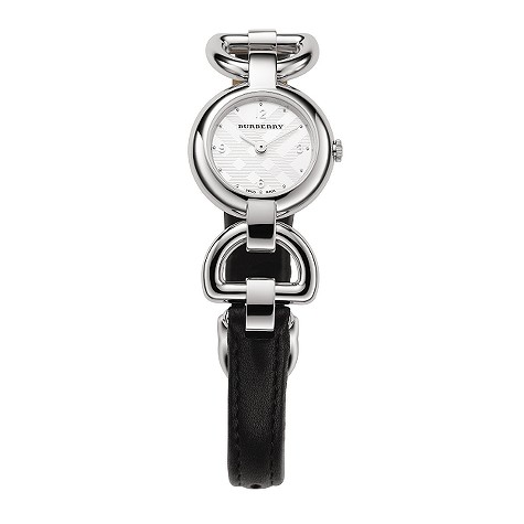 ladies thin black leather strap watch