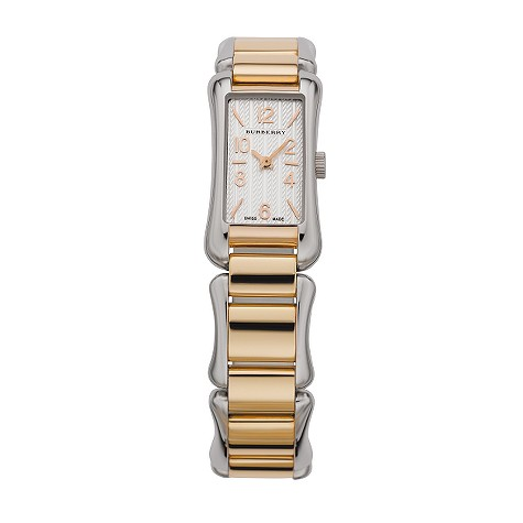 ladies two colour bracelet watch