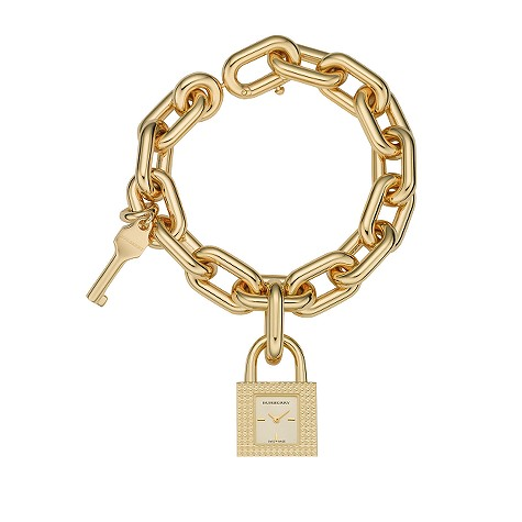champagne gold-plated charm bracelet
