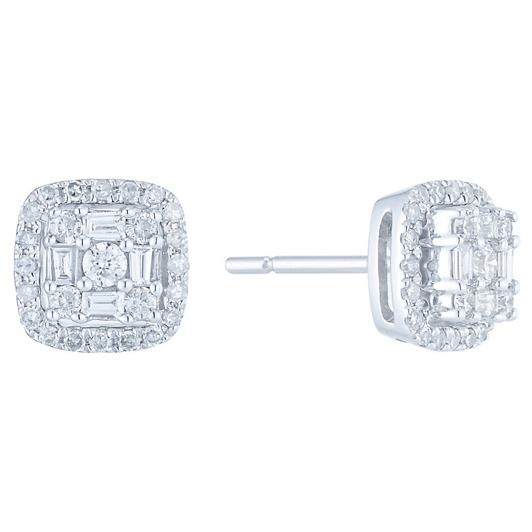 9ct White Gold 0.33ct Diamond Earrings - Product number 6420656