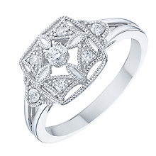 Silver Diamond Ring - Product number 6420893