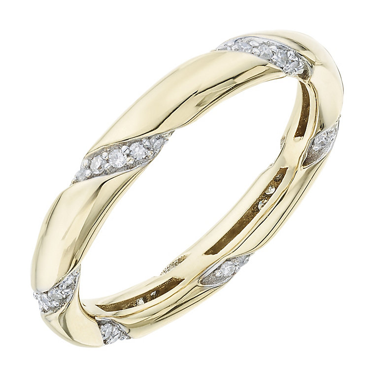9ct Yellow Gold 0.20ct Diamond Ring - Product number 6421288