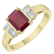 18ct White Gold Diamond & Ruby Ring - Product number 6424783