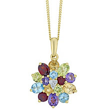 9ct Yellow Gold Diamond & Multistone Pendant - Product number 6425100