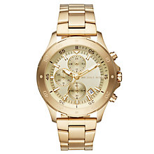 men s michael kors watches ernest jones michael kors walsh men s gold tone bracelet watch product number 6426050