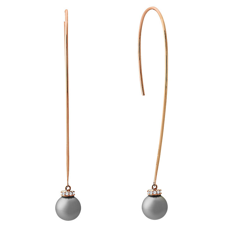 Michael Kors Rose Gold Tone Drop Pearl Earrings - Product number 6426107
