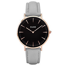 Cluse Ladies' La Bohème Grey Leather Strap Watch - Product number 6426905