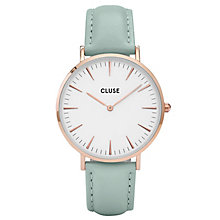 Cluse Ladies' La Bohème Mint Leather Strap Watch - Product number 6426913