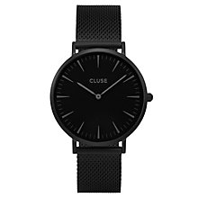 Cluse Ladies' La Bohème Black Mesh Bracelet Watch - Product number 6426964
